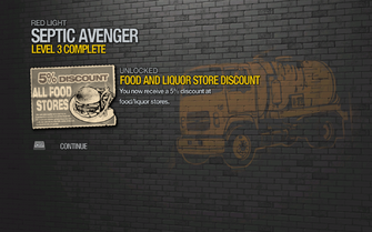 Food and Liquor Store 5% Discount unlocked by Septic Avenger level 3 in Saints Row 2