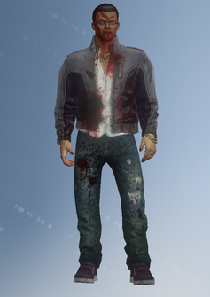 Johnny Gat - zombie gat - m03 with closed mouth - character model in Saints Row IV
