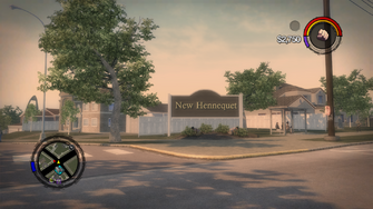 New Hennequet sign in Saints Row 2