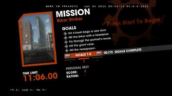 Saints Row Money Shot Mission objectives - Biker Striker - 2 of 3 goals screen