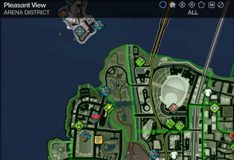 Map in Saints Row 2 - Arena - Pleasant View