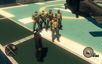 SNG soldiers - 5 on helipad in Saints Row The Third