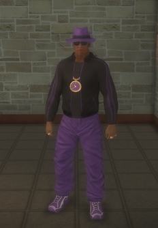 Gang Customization - 80s - male lieutenant - black