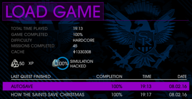 100% Completion in Saints Row IV