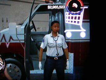 Paramedic outside Ambulance in Saints Row 2