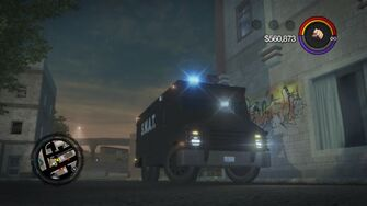 Peacekeeper - front right with flashing lights in Saints Row 2