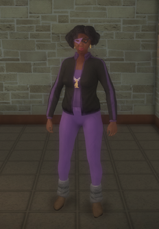 Gang Customization - 80s - female lieutenant - black