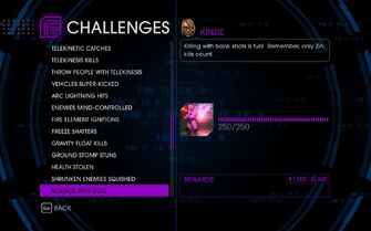 Challenge 45 Bounce Rifle Kills