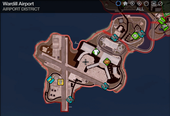Map in Saints Row 2 - Airport - Wardill Airport