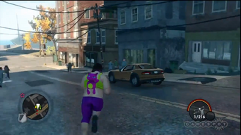 Raycaster in a gameplay preview for Saints Row The Third