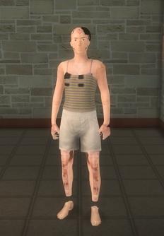 Broken NPC - MF logotest - character model in Saints Row 2