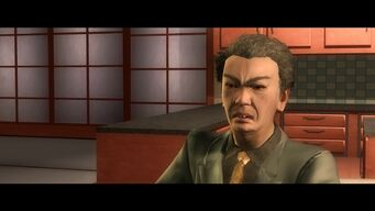 Kazuo Akuji in the Changing the Deal cutscene after Visiting Hours