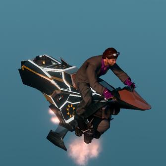 Saints Row The Third DLC vehicle - Ultor Interceptor - hover - angle