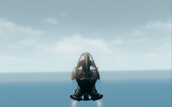 Scythe in hover mode - front