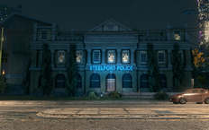 Steelport Police building in Ashwood in Saints Row The Third