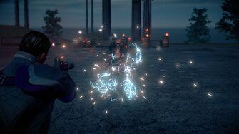 Super Powered Zin unfazed by Lightning Shots or the Stun Gun