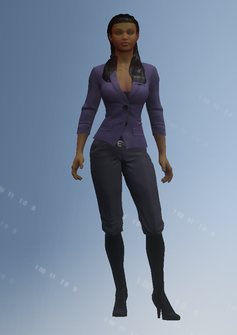 Asha - white house - character model in Saints Row IV