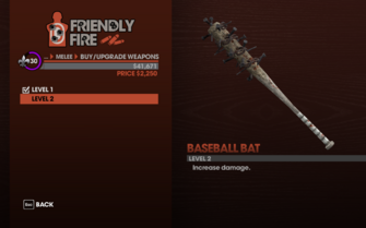 Baseball Bat in Saints Row The Third - Level 2 description