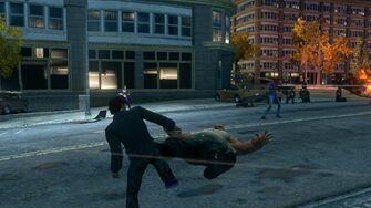 Playa kicking a Brute