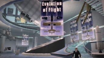 Stilwater Science Center in Saints Row 2 - Evolution of Flight banner