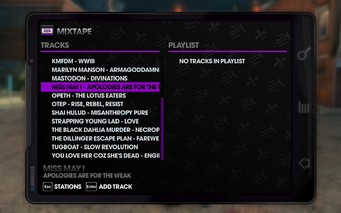 The Blood 106.66 - Saints Row The Third tracklist - bottom