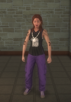 Gang Customization - Sporty - female lieutenant - white