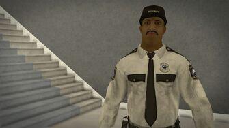 Stilwater Savings & Loan - closeup of security guard