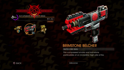 GOOH halloween livestream - Weapon - SMGs - Rapid-Fire SMG - Brimstone Belcher description