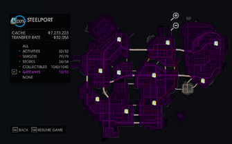 Gateway map in Saints Row IV