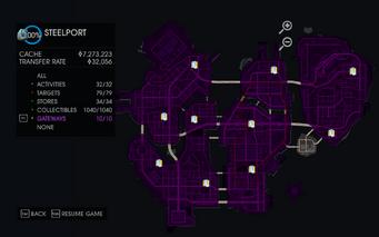 Gateway map in Saints Row IV