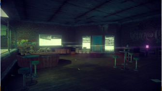 On Track interior in Saints Row IV - entrance