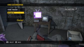 Red Light Loft - Crib Customization - Home Theater - 10 inch TV