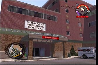 Stilwater Memorial Hospital emergency entrance from south-west