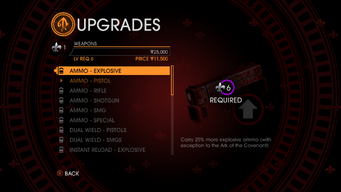 Upgrades in Saints Row Gat out of Hell - weapons