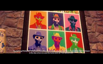 Zimos pop art in game