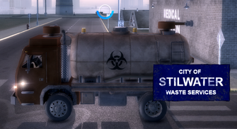 City Waste Truck - left
