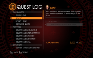 Gear Up in Quest Log
