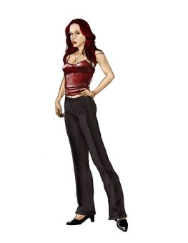 Jessica Concept Art 05 - Nearly finalized design with wavy hair