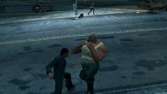 Playa shoving a Grenade into a Brute's mouth