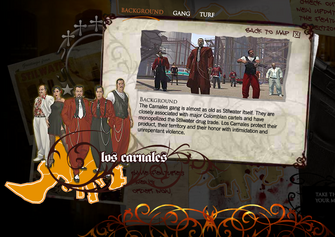 Saints Row promo website - Los Carnales Background