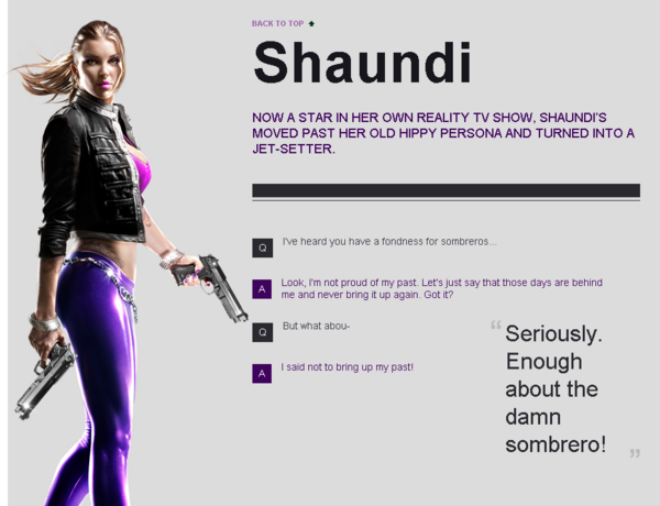 Saints Row website - Gangs - The Saints - Shaundi