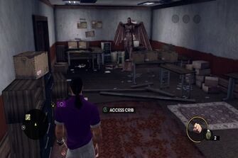 Angel's Gym - store room with Angel Statue