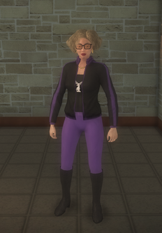 Gang Customization - 80s - female lieutenant - white