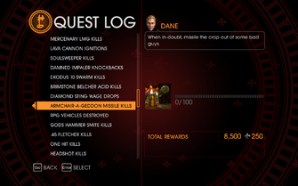 Gat out of Hell Challenge - Armchair-A-Geddon Missile Kills