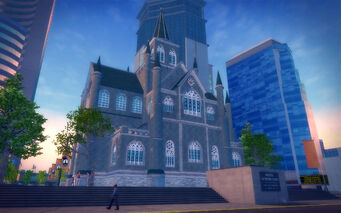 Mission Beach in Saints Row 2 - Stilwater Memorial Church