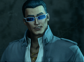 Johnny Gat during the opening cutscene of I'm Free - Free Falling