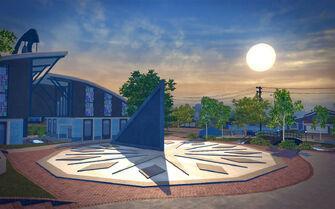 New Hennequet - sundial
