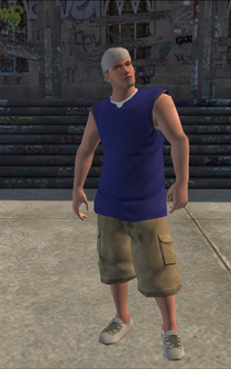 Westside Rollerz male Thug1-02 - intro wrc - character model in Saints Row