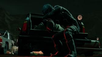 Zero Saints Thirty - Playa killing a terrorist on the back of a truck