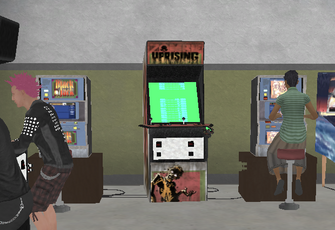 Zombie Uprising arcade machine at Stilwater University in Saints Row 2